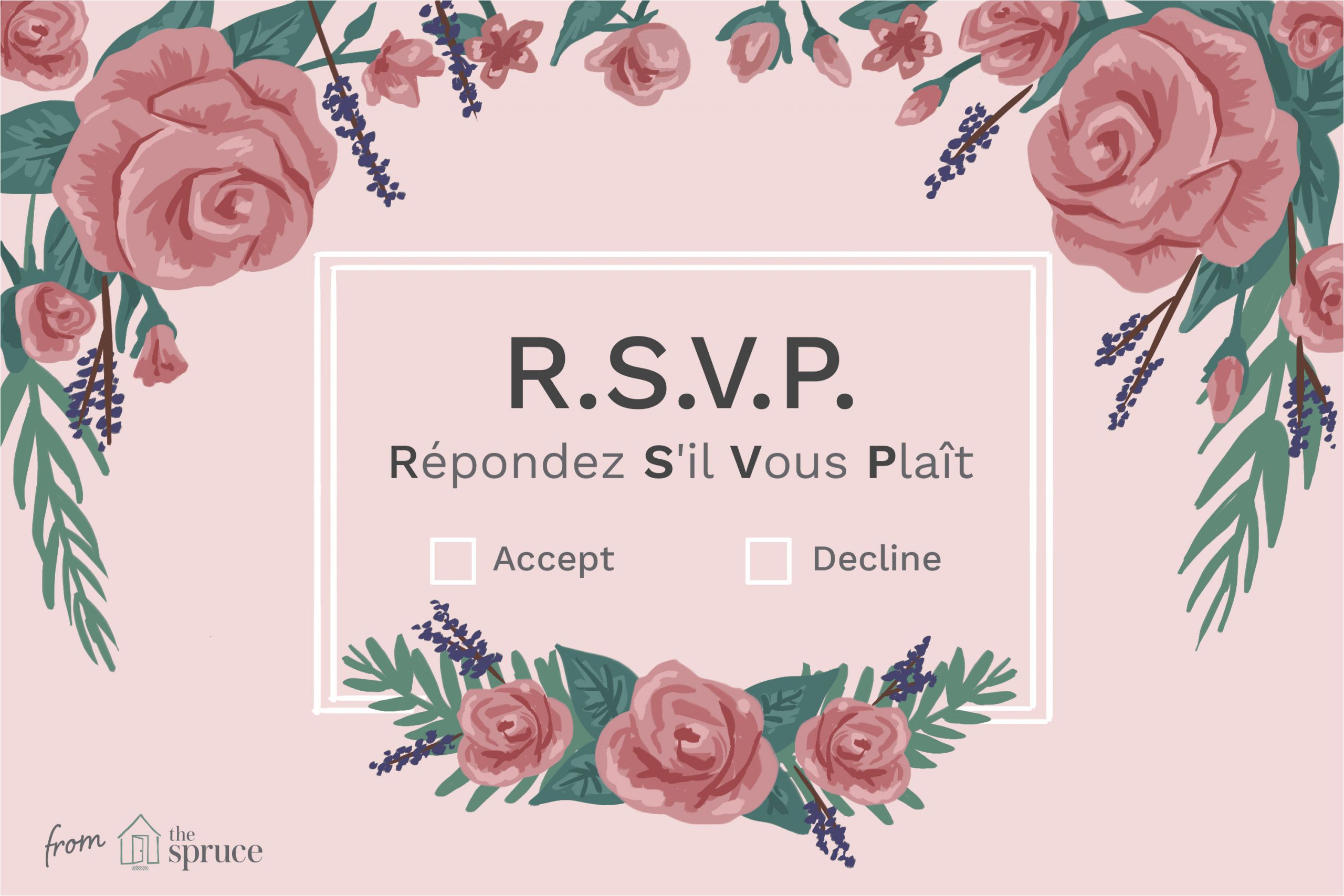 Rsvp Meaning In Marriage Card What Does Rsvp Mean On An Invitation