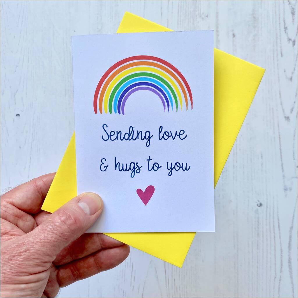 original sending love hugs rainbow card jpg