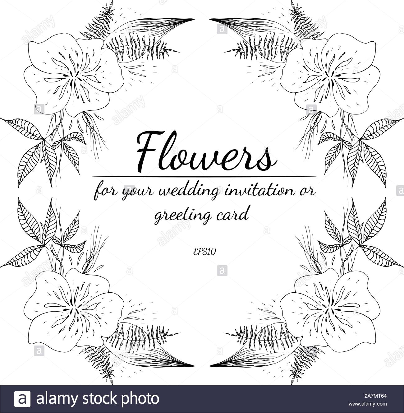 tropische frame hand gezeichnet dschungel laub abbildung florale hand zeichnen vektor isoliert naturliche quelle hochzeit karte sommer tropische le 2a7mt64 jpg
