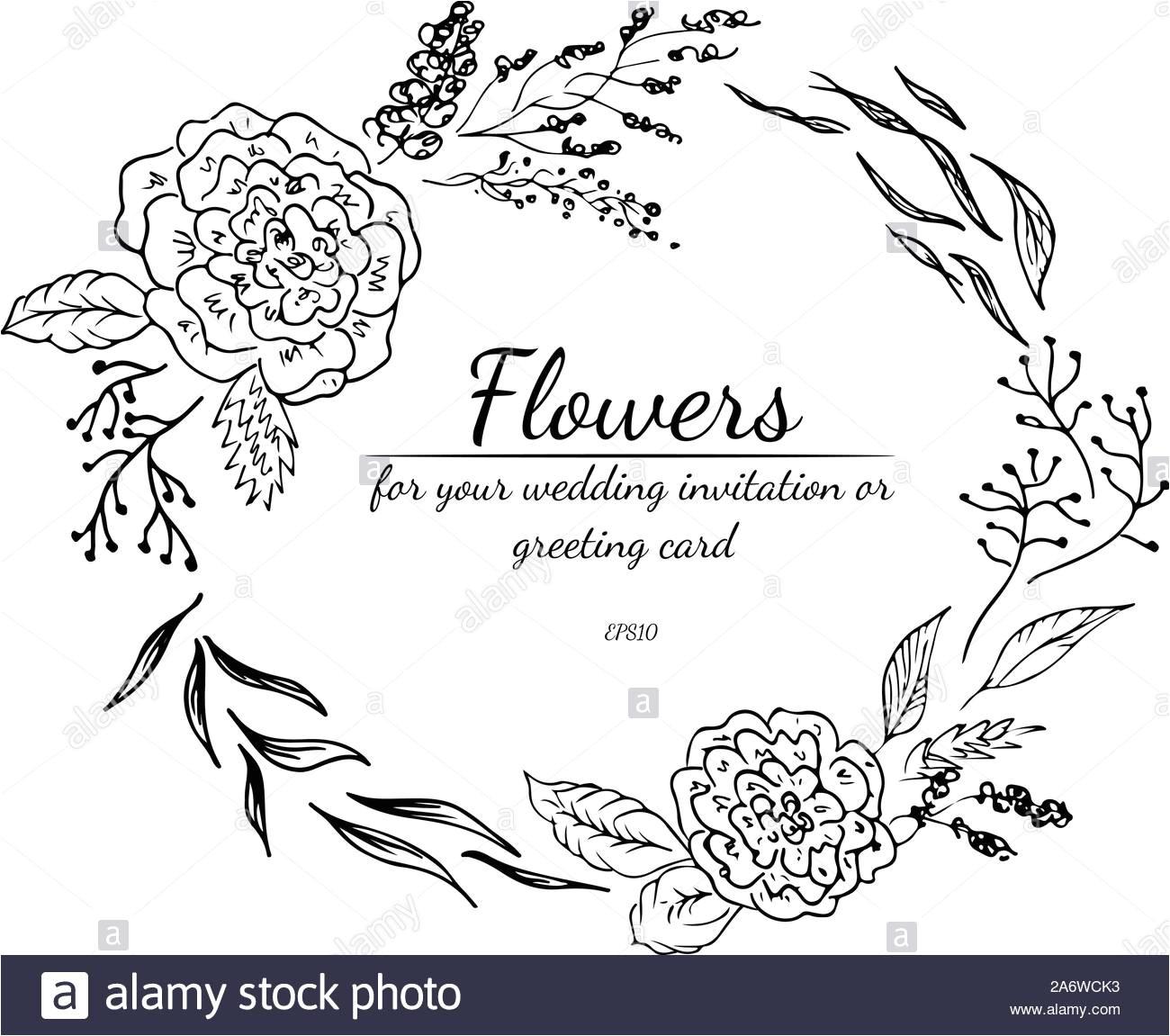 tropische frame hand gezeichnet dschungel laub abbildung florale hand zeichnen vektor isoliert naturliche quelle hochzeit karte sommer tropische le 2a6wck3 jpg