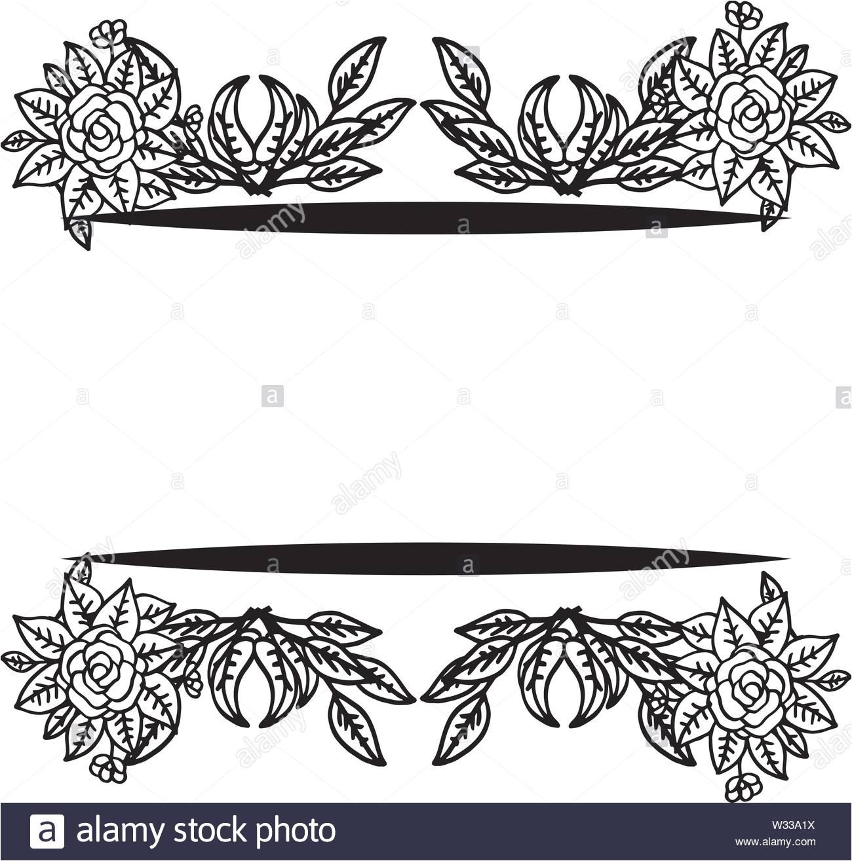 border for the cover decorative frame wedding card vector illustration w33a1x jpg
