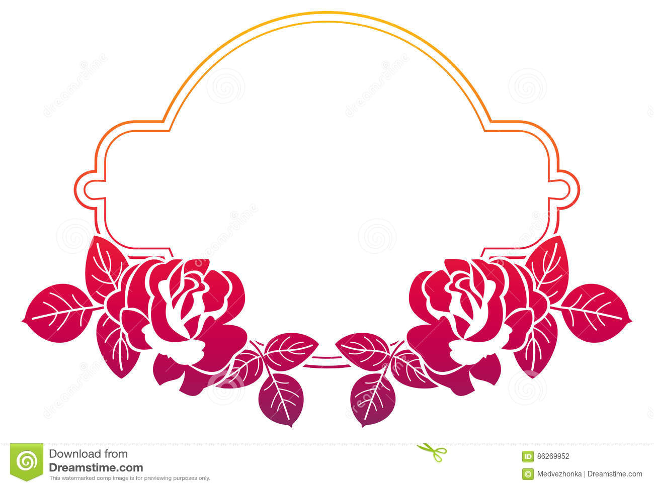 gradient frame roses raster clip art color advertisements wedding invitations greeting cards 86269952 jpg