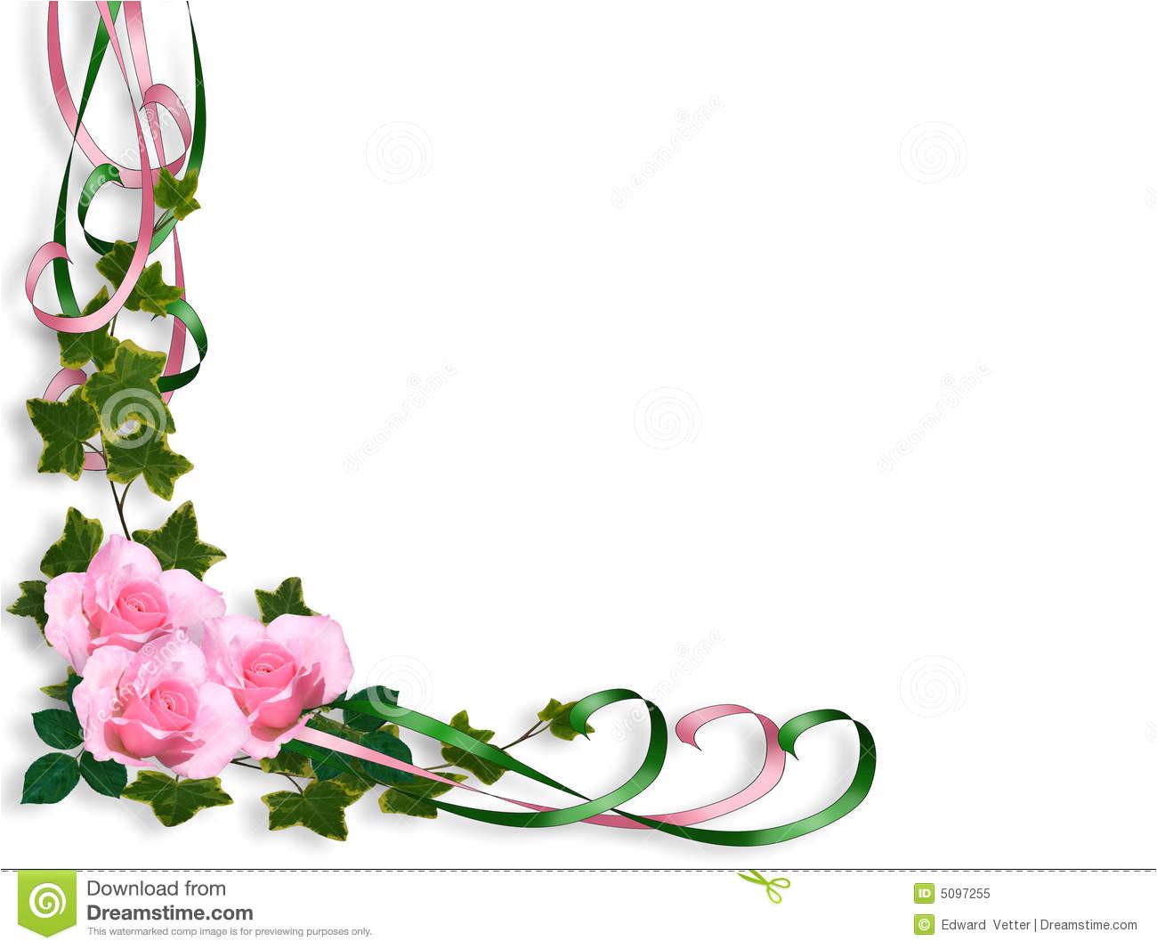 pink roses border invitation 5097255 jpg