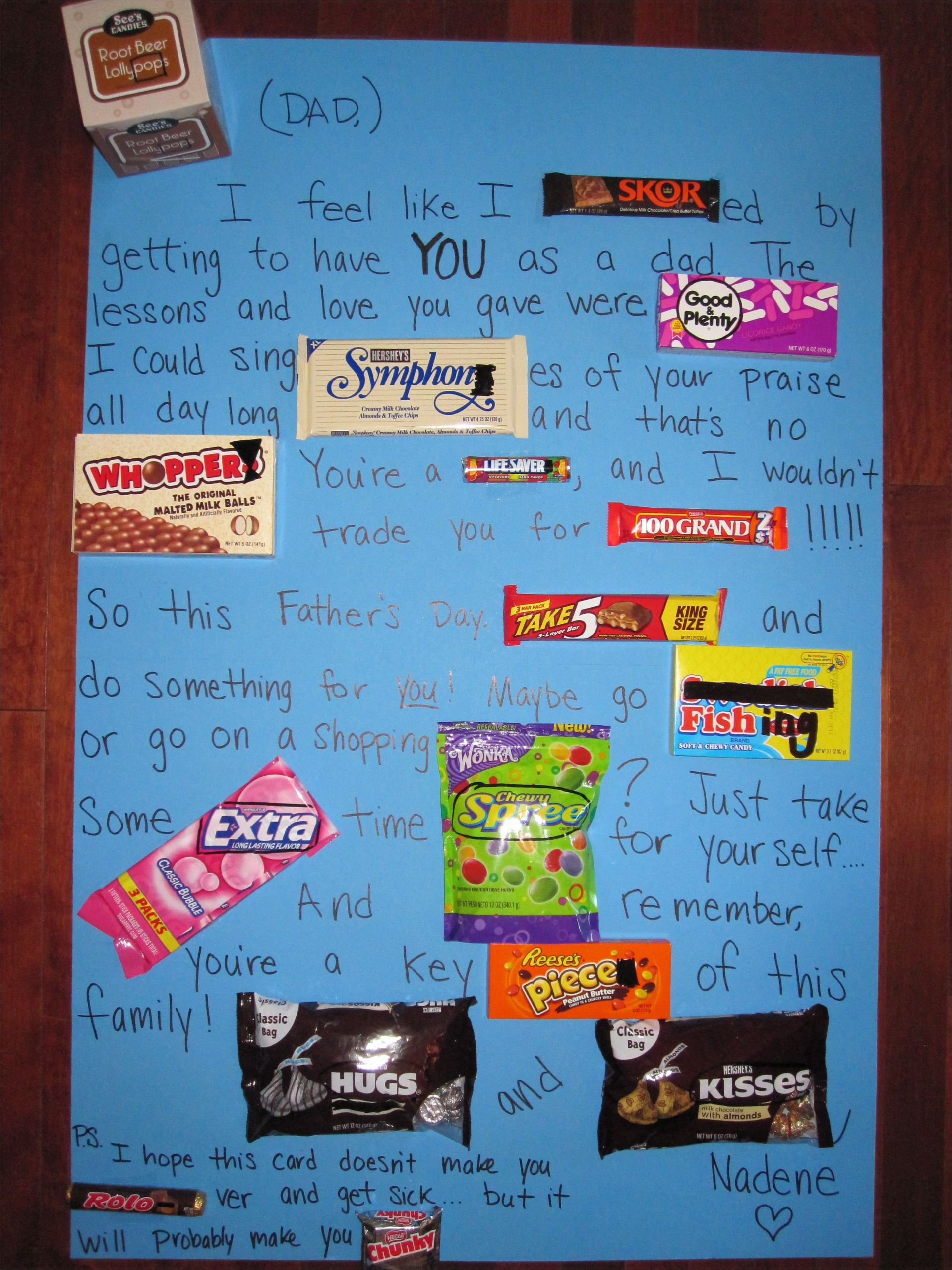 Simple Card for Father S Day Candy Card that I Made My Dad for Father S Day Im Making
