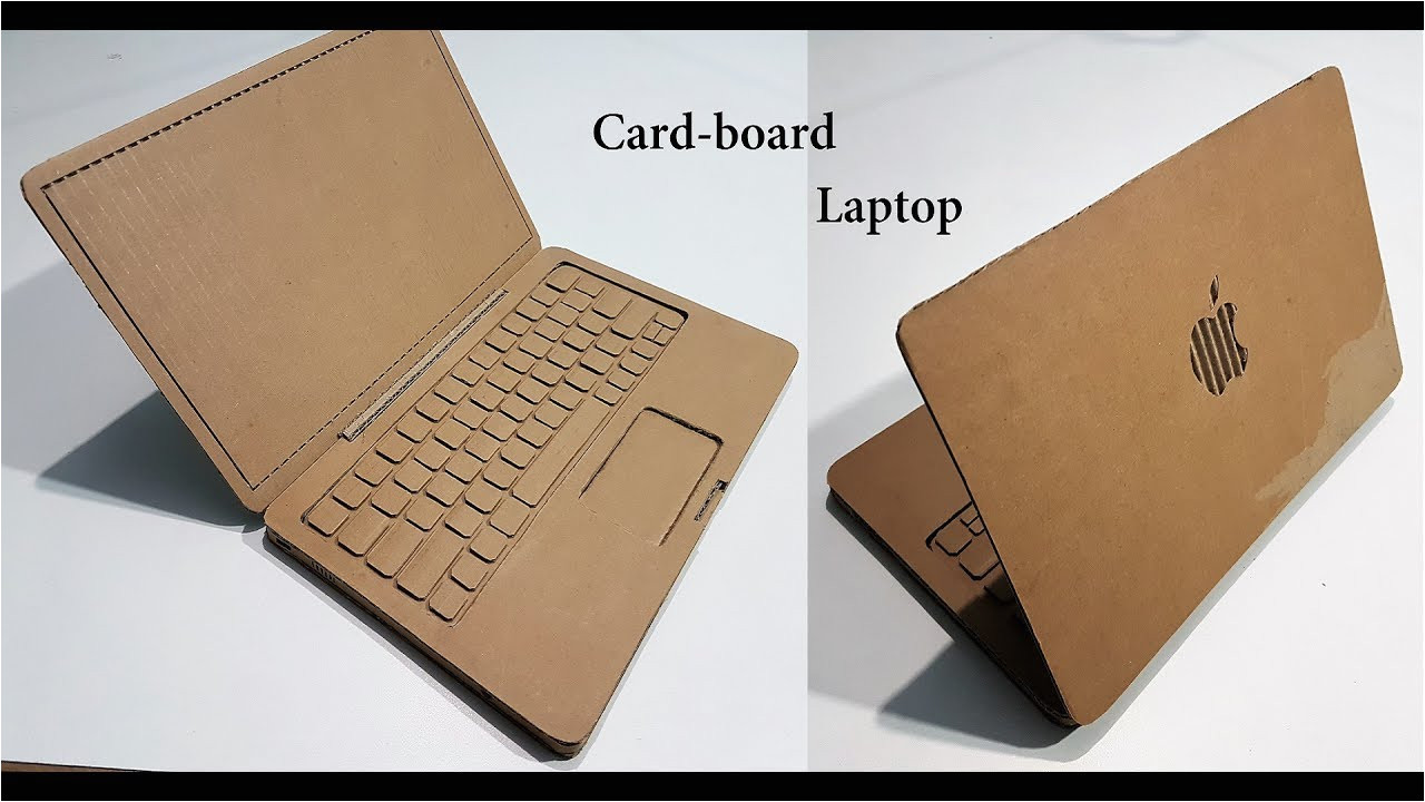 Simple Card Kaise Banate Hai How to Make A Laptop with Cardboard Apple Laptop