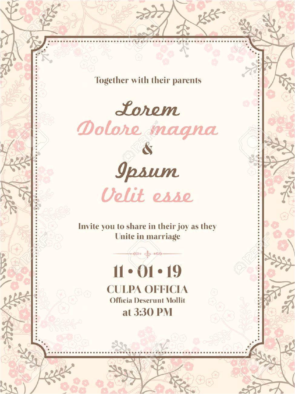 Simple Invitation Card for Wedding Marriage Invitation Cards Dengan Gambar