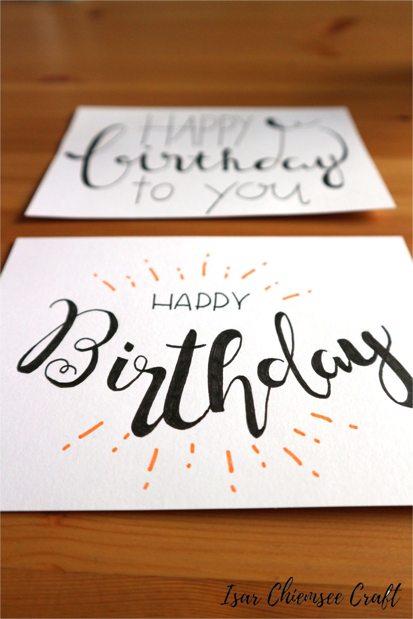Simple Things to Write In A Birthday Card Lettering Birthday Card In 2020 Mit Bildern