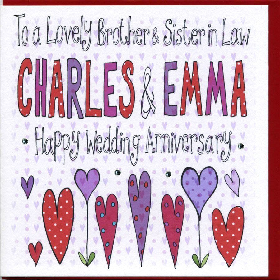 Sister and Brother In Law Anniversary Card Happy 40th Anniversary Images In 2020 Wedding Anniversary
