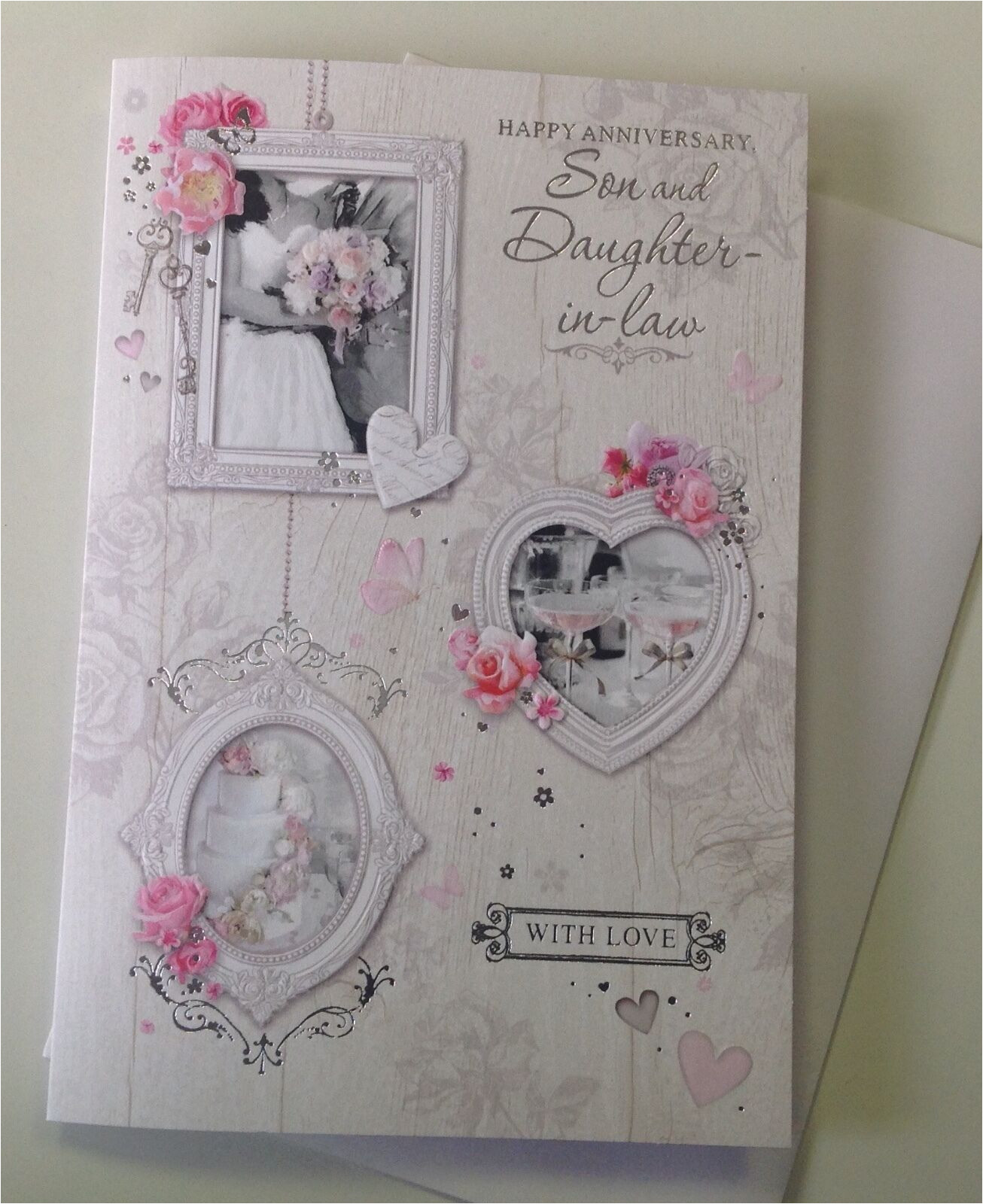 Son and Daughter In Law Anniversary Card Cards Stationery son Daughter In Law Anniversary Card