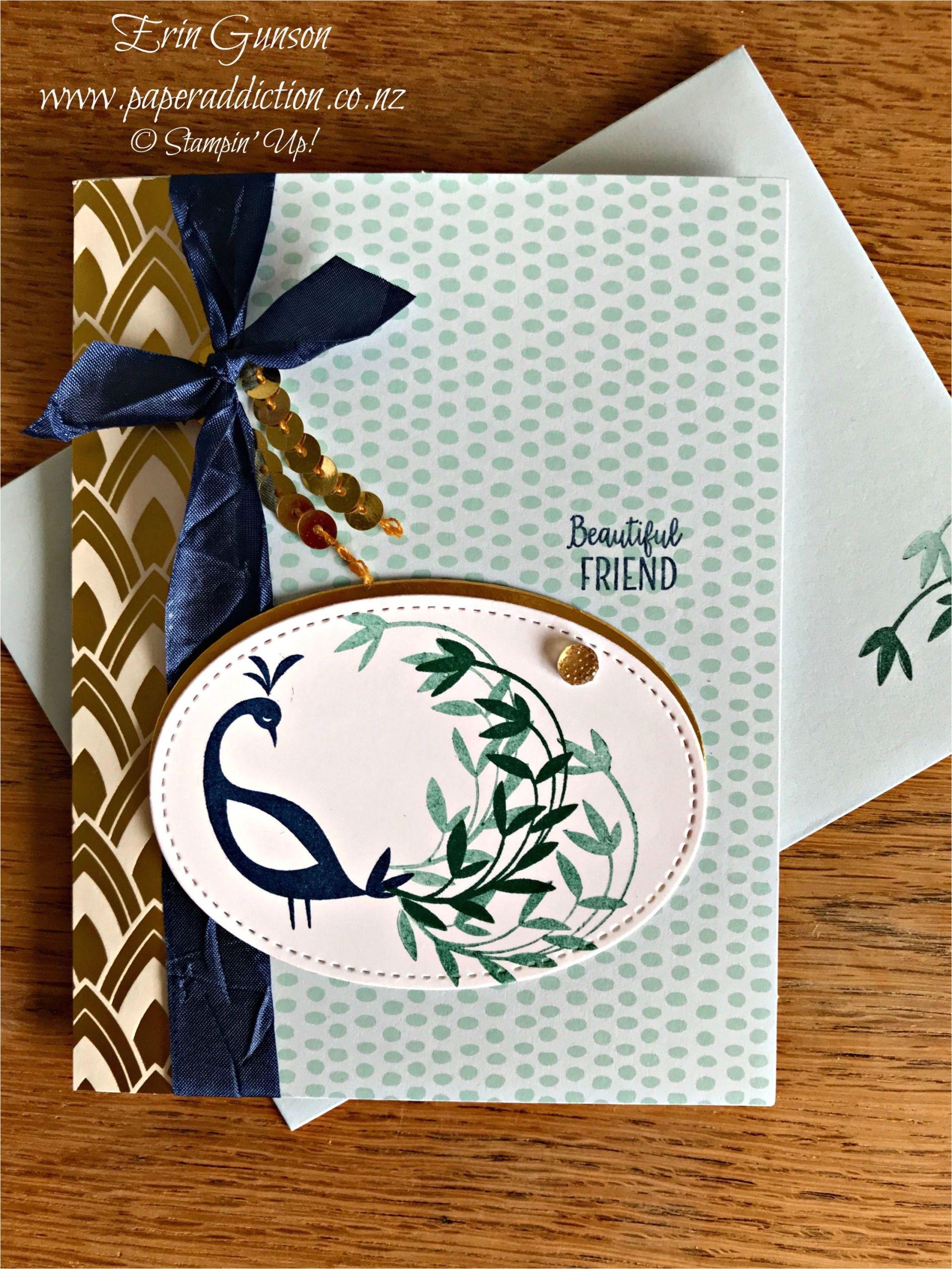 Stampin Up Beautiful Peacock Card Ideas Stampin Up Beautiful Peacock and Tutti Frutti Card Base