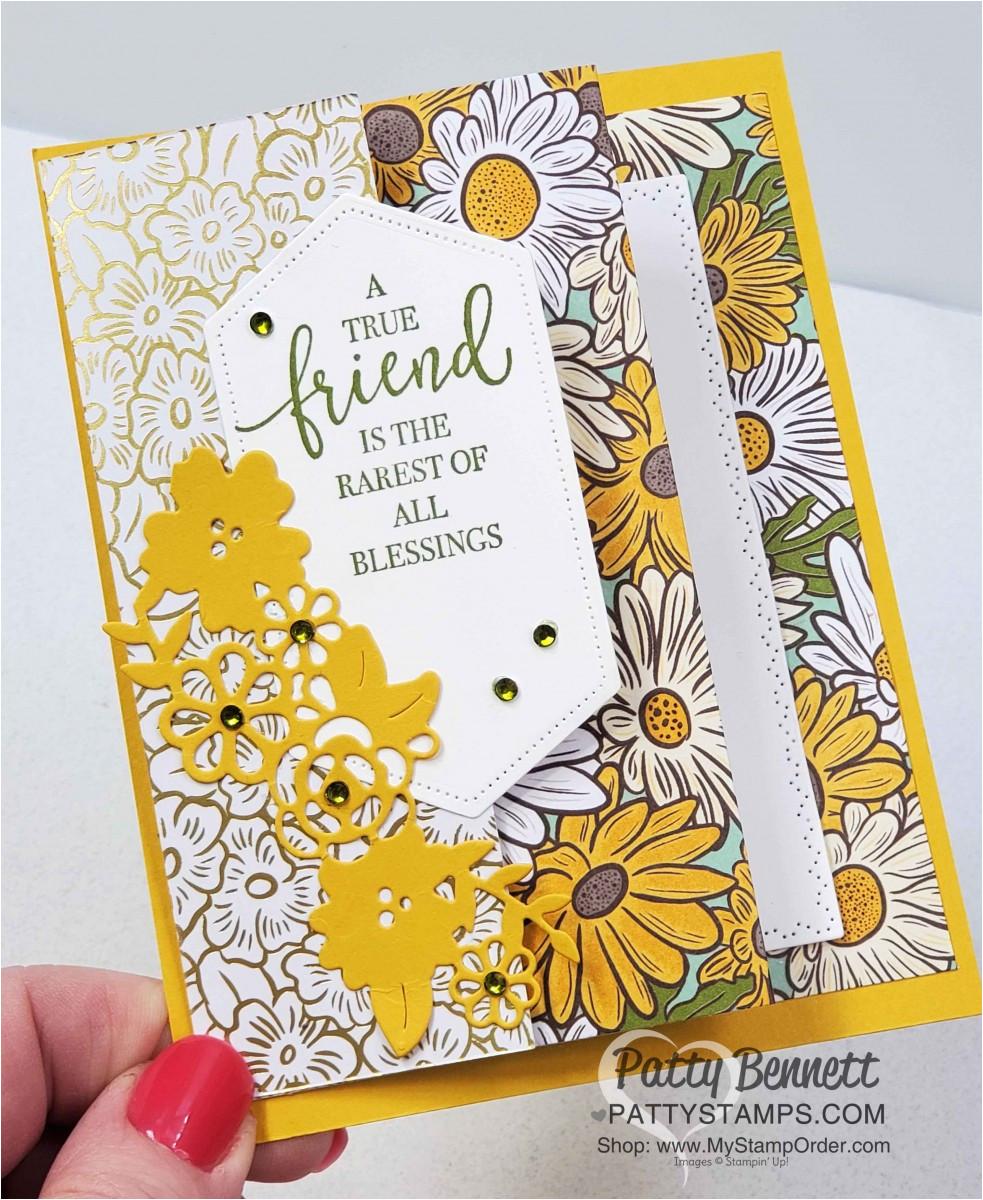 ornate garden style fun fold idea card stampin up pattystamps border dies friend jpg