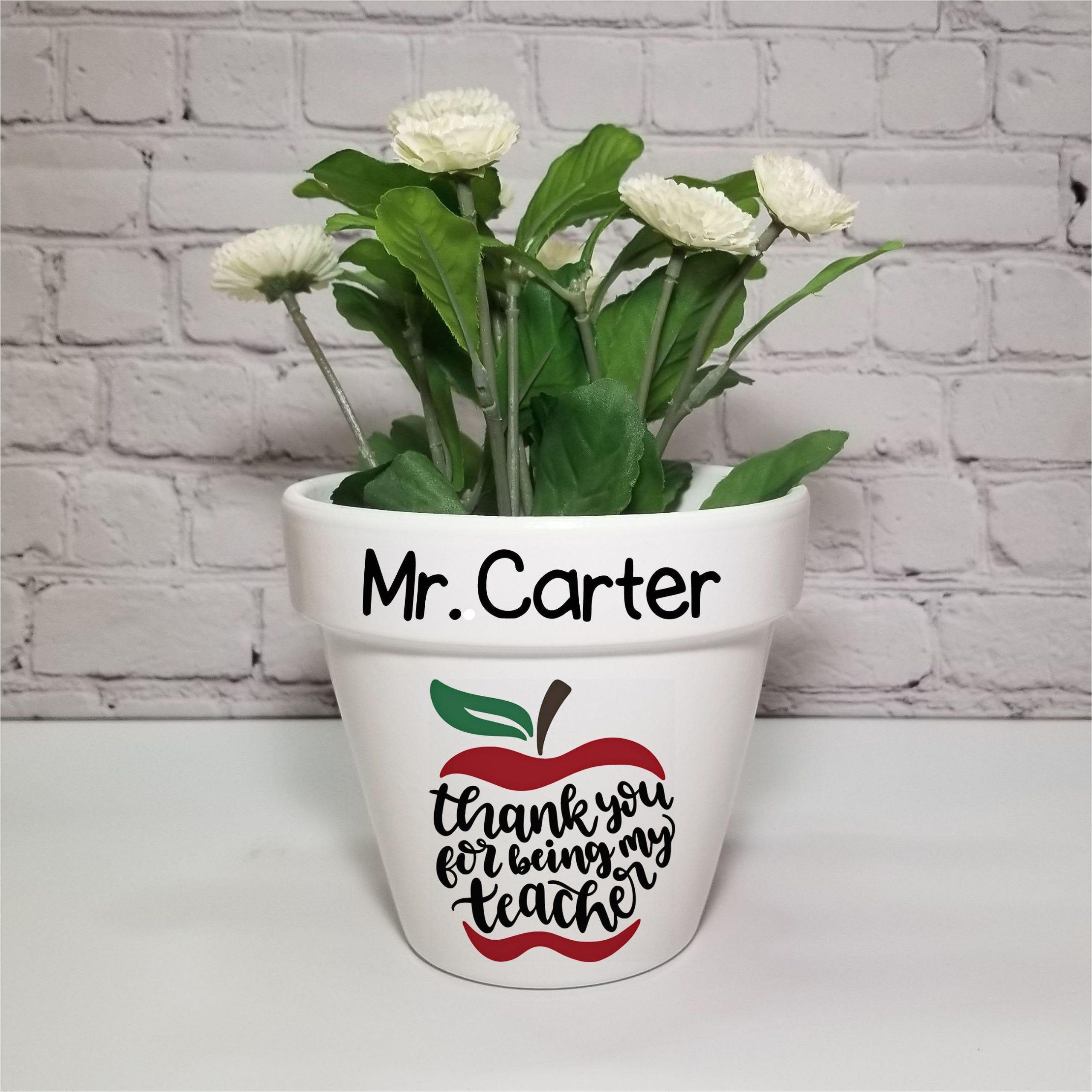 Teacher Appreciation Gift Card Flower Pot Flower Pot Beautiful Personalized Flower Pots This