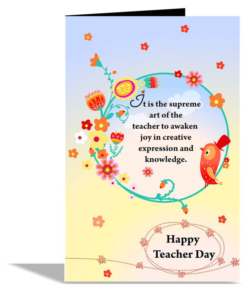 Teachers Day Card Happy Teachers Day Card Happy Teacher Day Greeting Card