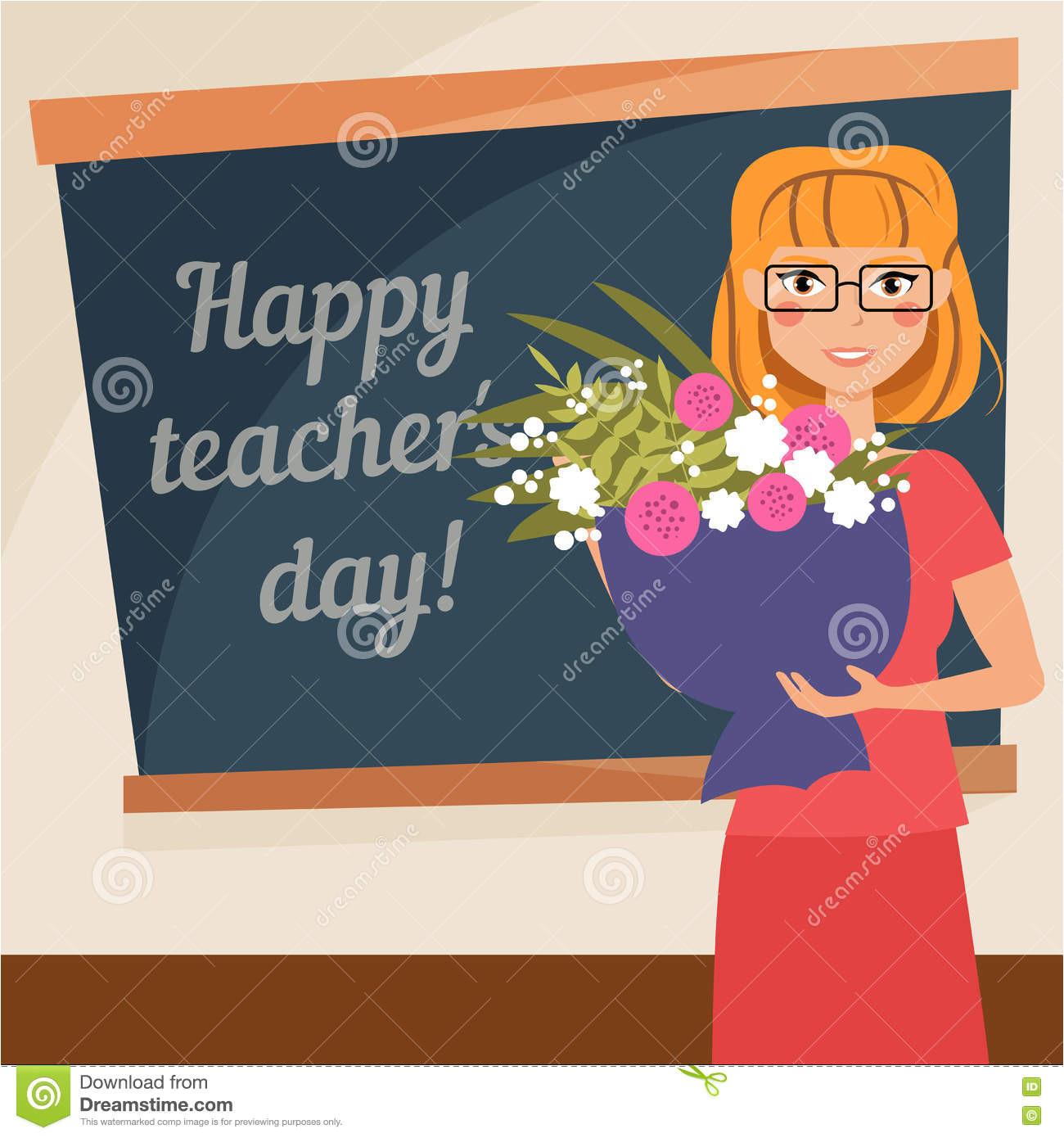 happy teachers day card vector illustration cartoon character 78198301 jpg