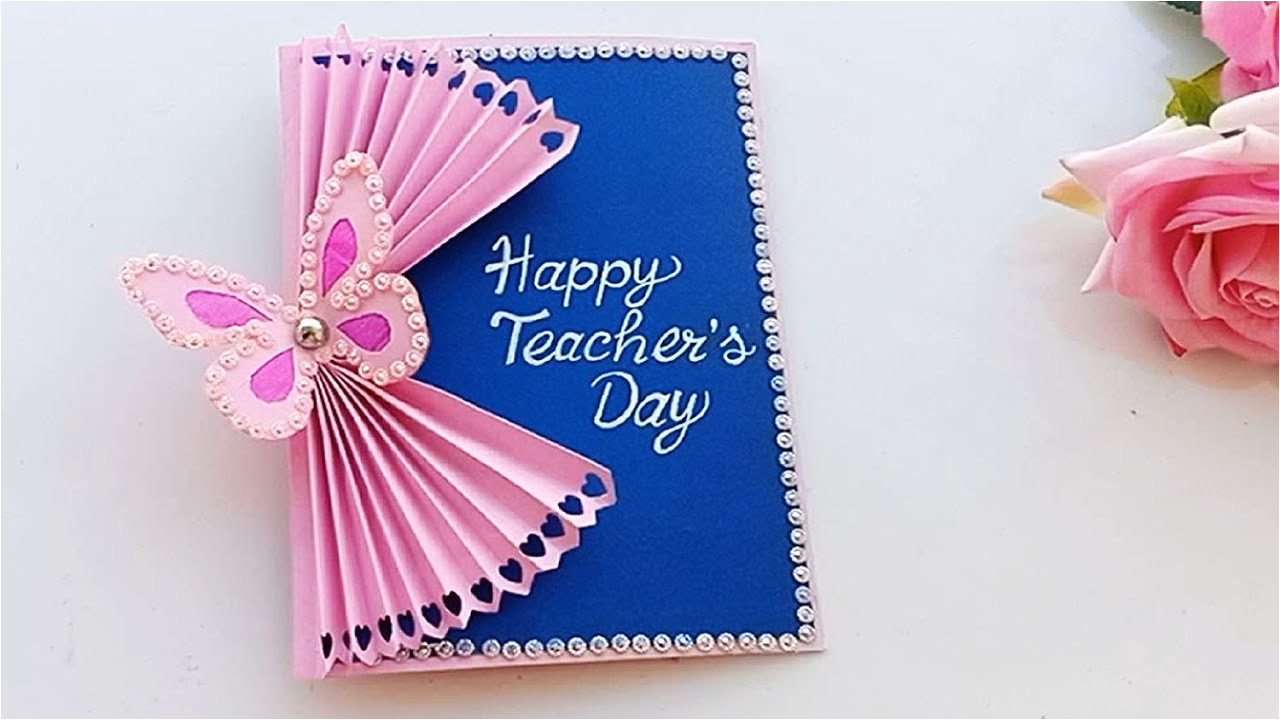 Teachers Day Par Greeting Card Banane Ka Tarika Diy Teacher S Day Card Handmade Teachers Day Card Making Idea