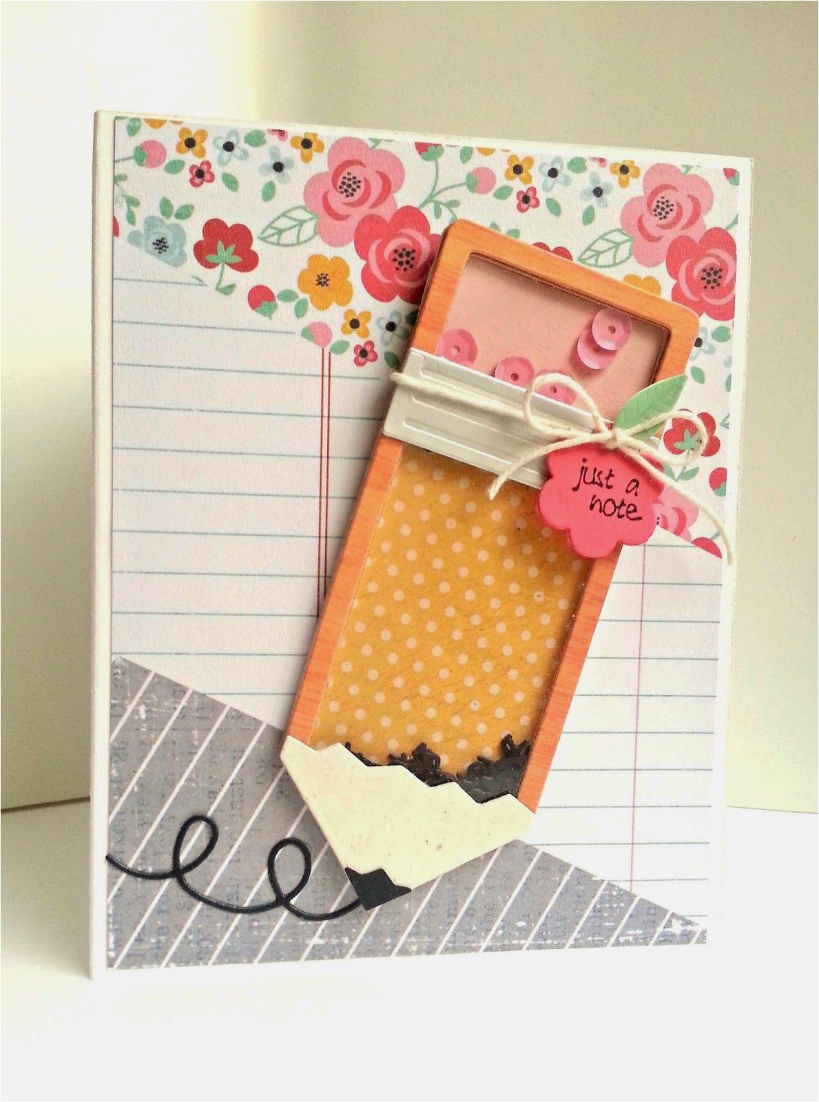 Teachers Day Pop Up Card Pencil Shaker with Images Teacher Cards Teacher