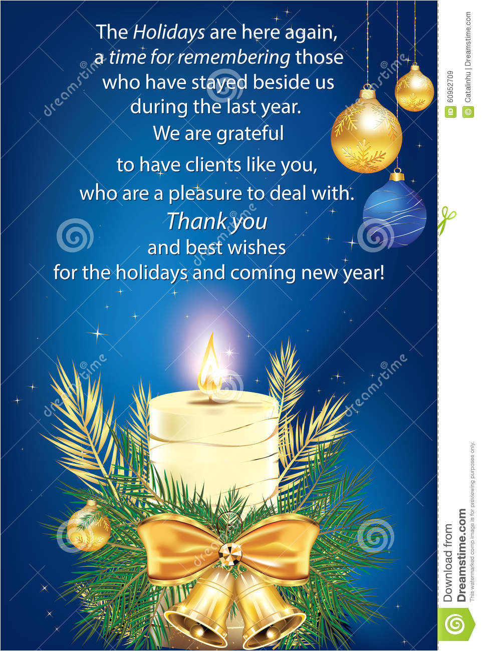 thank you blue business greeting card christmas new year especially created companies want to their clients 60952709 jpg