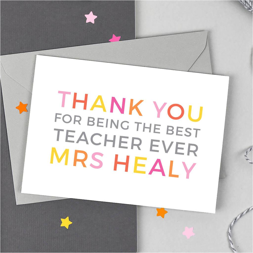 original personalised thank you teaching assistant card jpg