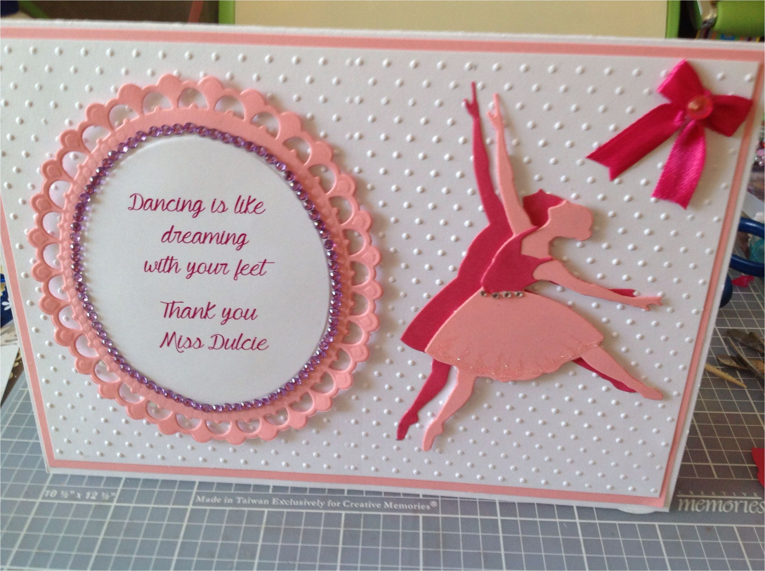 Thank You Dance Teacher Card Thank You Dance Teachers Card with Images Greeting Cards