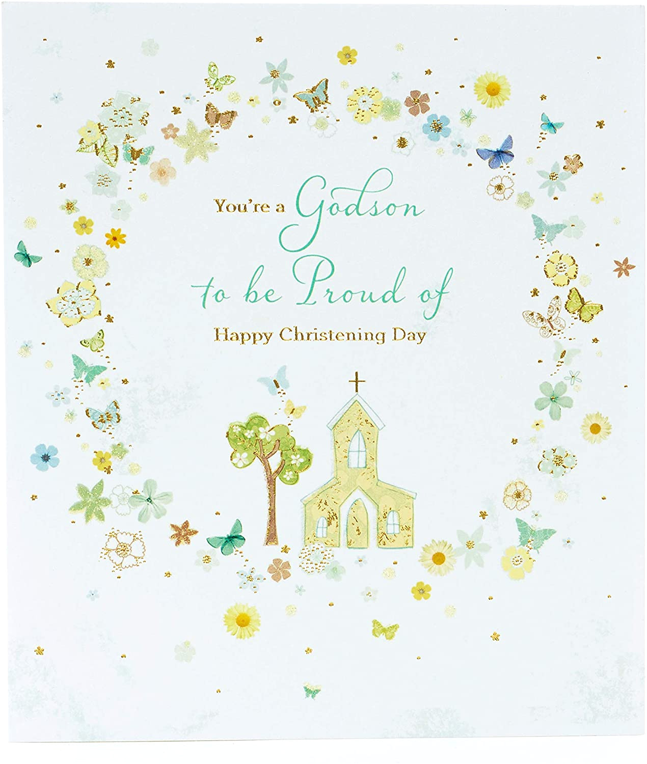 Thank You for Our Beautiful Grandson Card Godson Christening Card Christening Card to Send to Godson New Baby Boy Card New Baby Gifts Christening Gifts for Boys