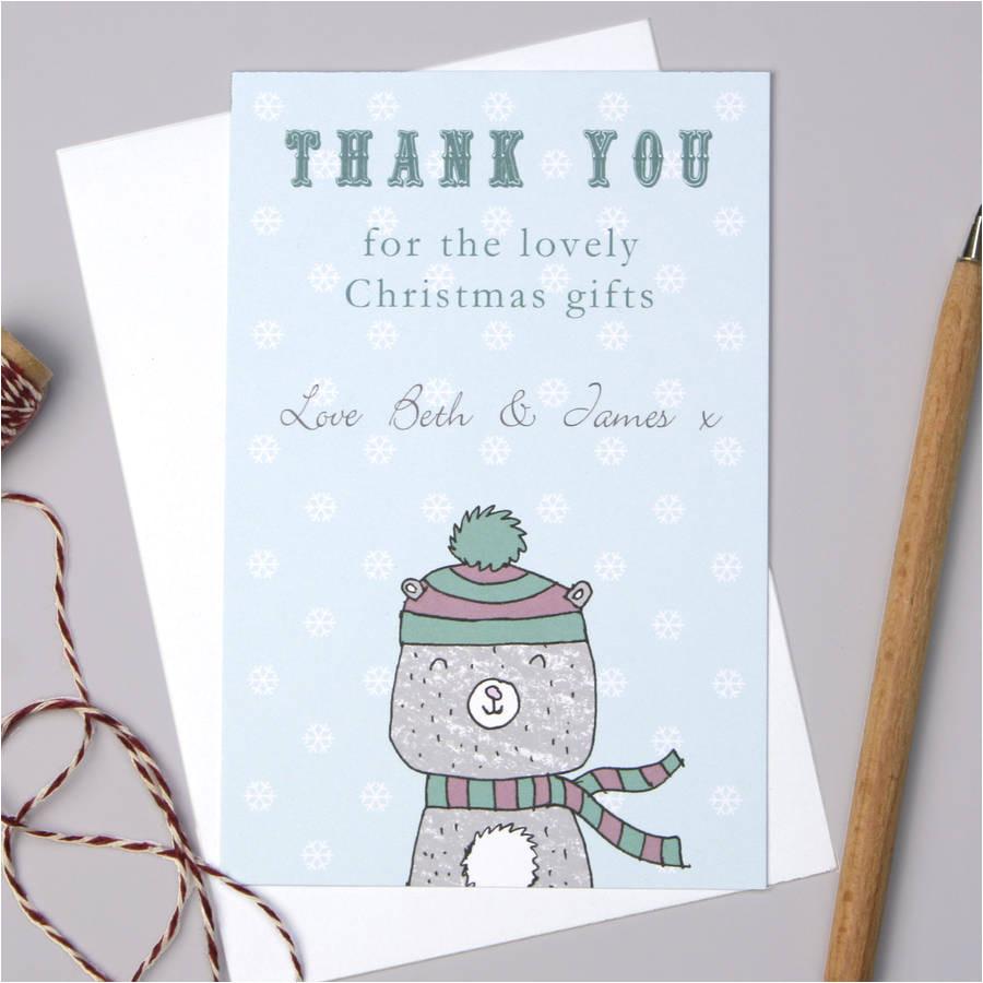 original personalised bear christmas thank you cards jpg