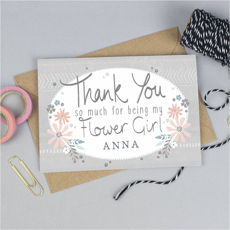 original thank you for being my flower girl card personalised jpg