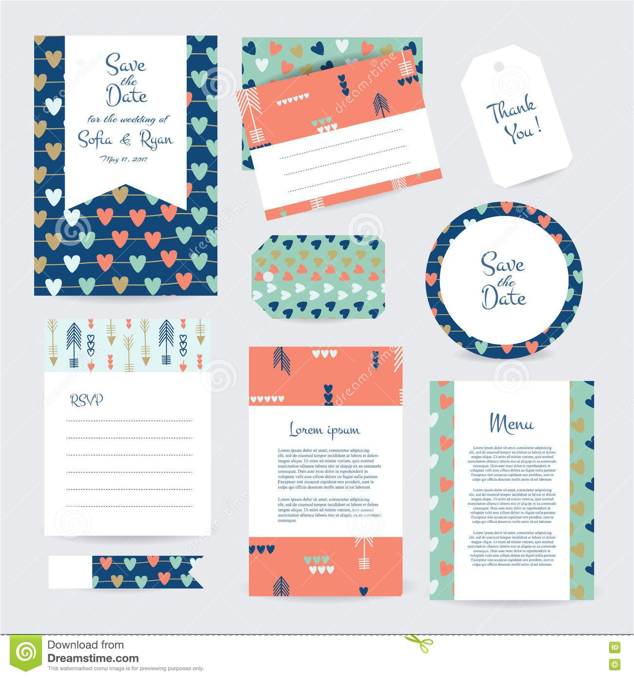 cards template wedding vector gentle hipster ethno design invitation save date rsvp menu thank you card 79168981 jpg