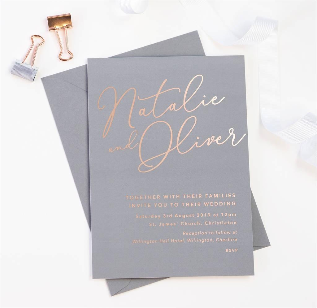 original natalie grey foil wedding invitations jpg