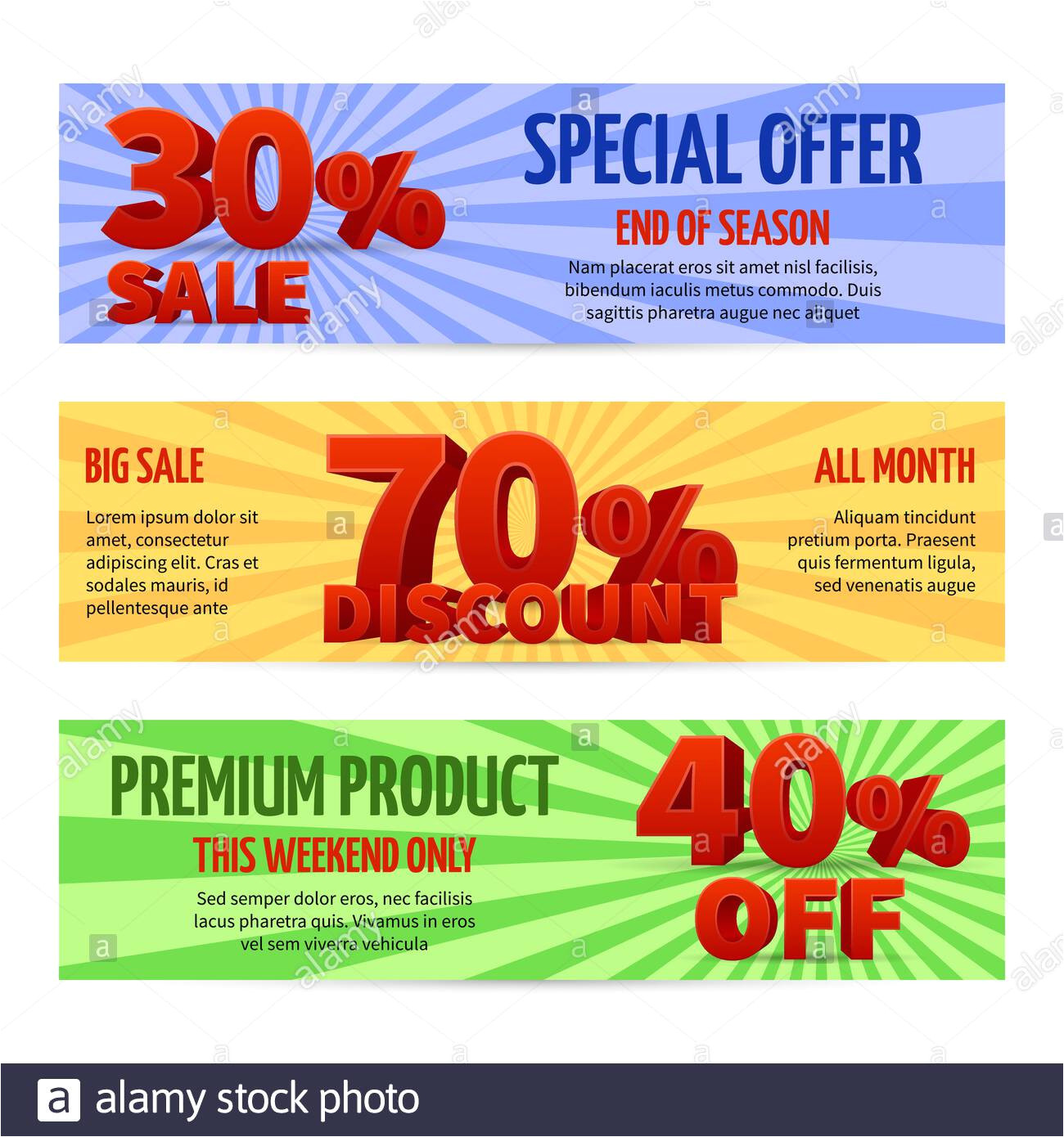 discount voucher sale coupon label designs special offer banners with percent off and big sale illustration of discount cards 2b09k3p jpg