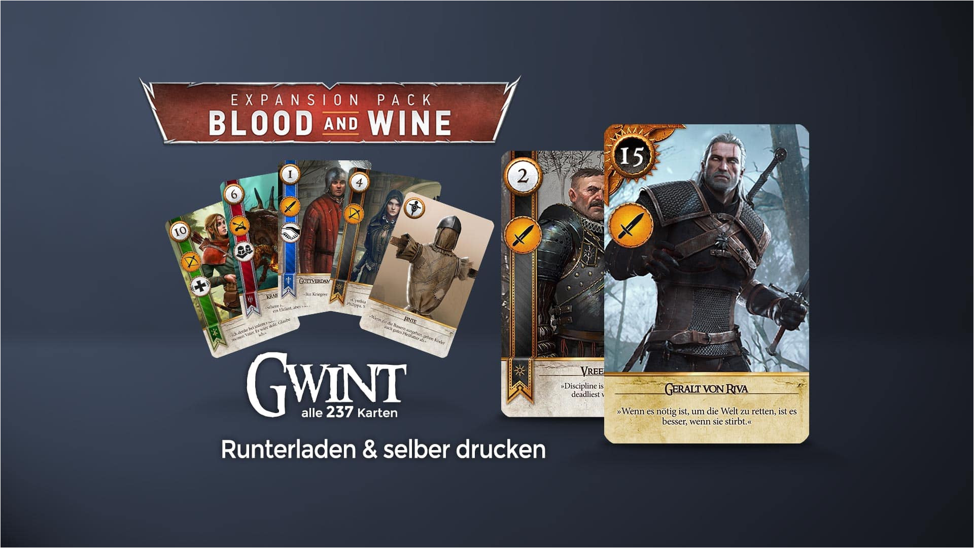 the witcher 3 win a unique card from gremist  williamson