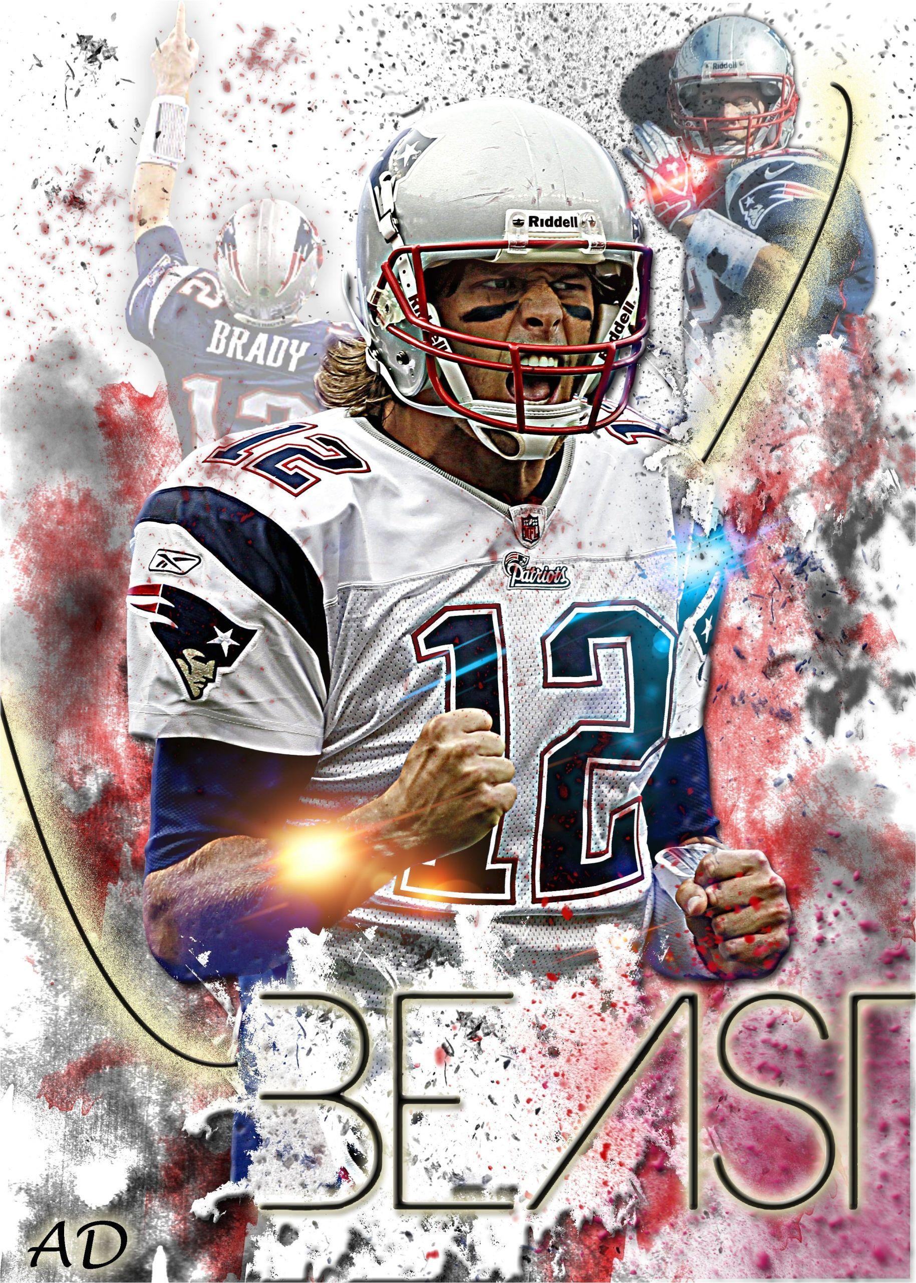 Tom Brady Happy Birthday Card Patriots Beast Verycool Patriots Patriots Football New