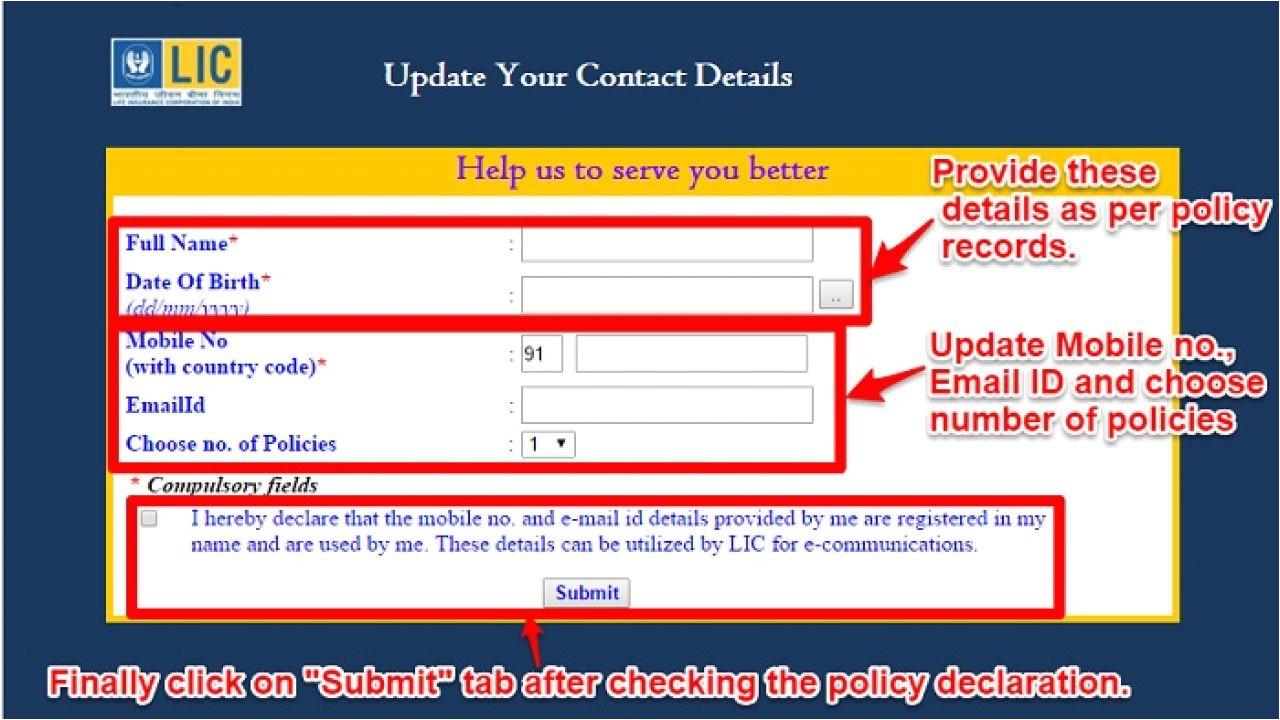 update contact details in lic policies online 1280x720 jpg