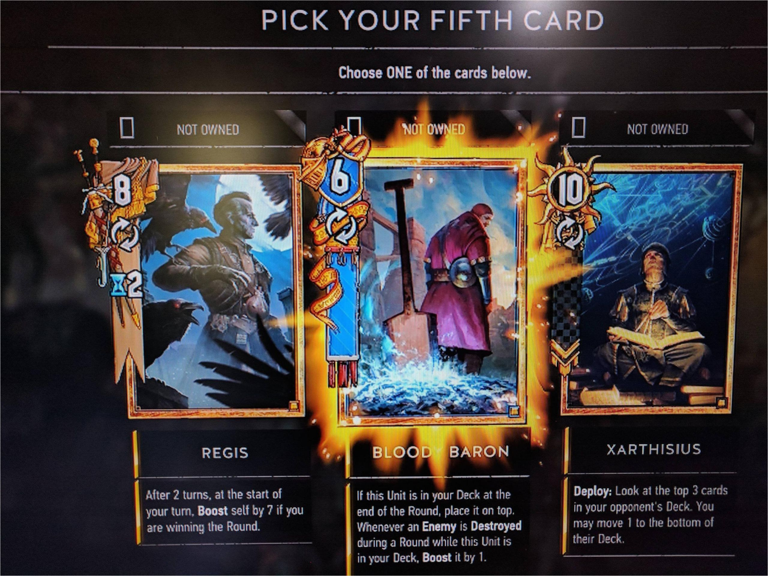 unique card from baron witcher 3  williamsonga
