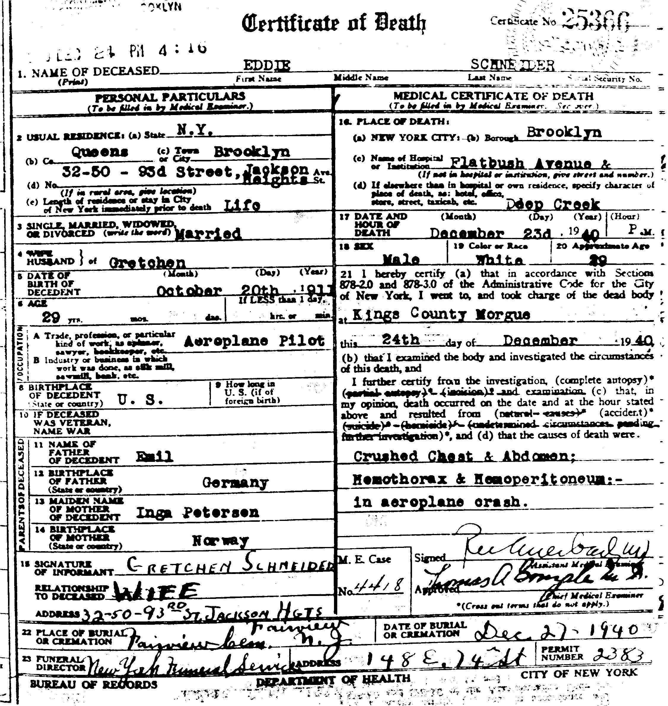 eddie august schneider 281911 1940 29 death certificate gif