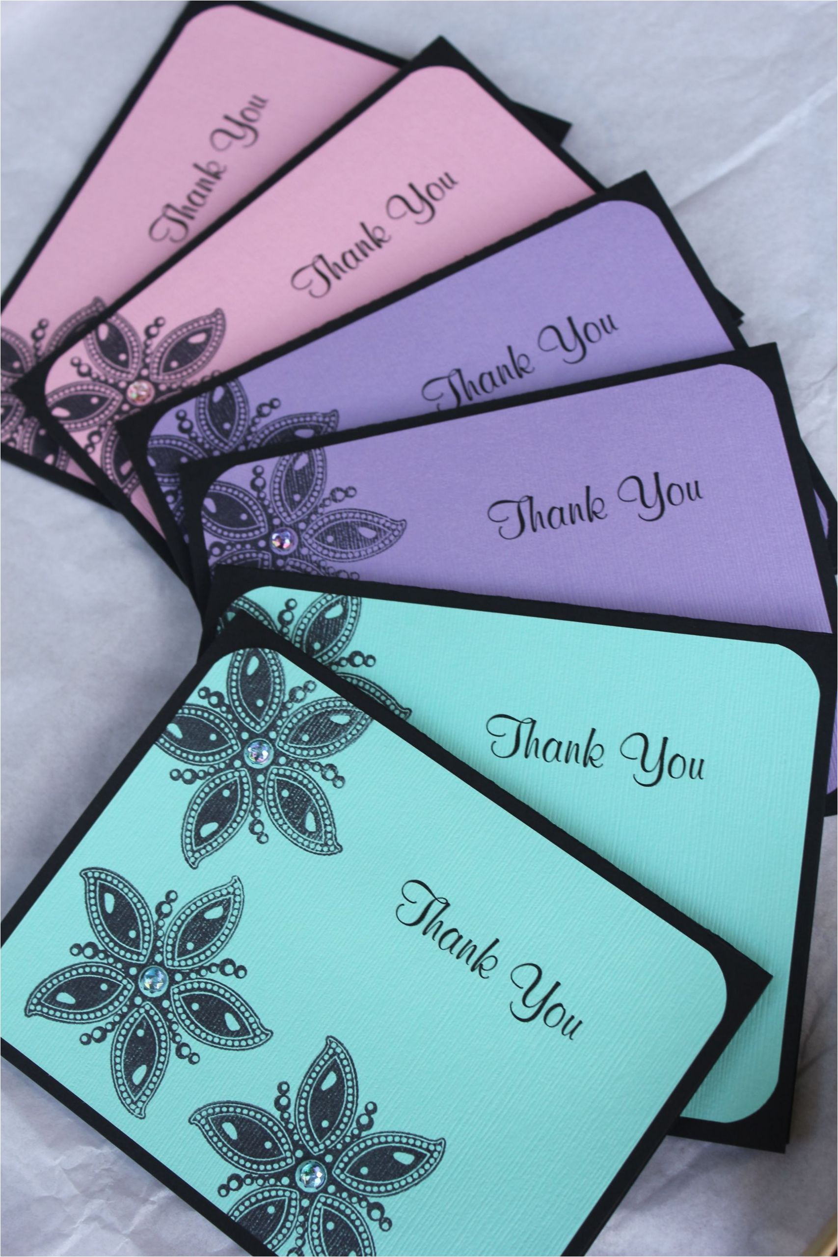 Unique Thank You Card Designs Handmade Thank You Cards by Craftedbylizc Handmade Thank