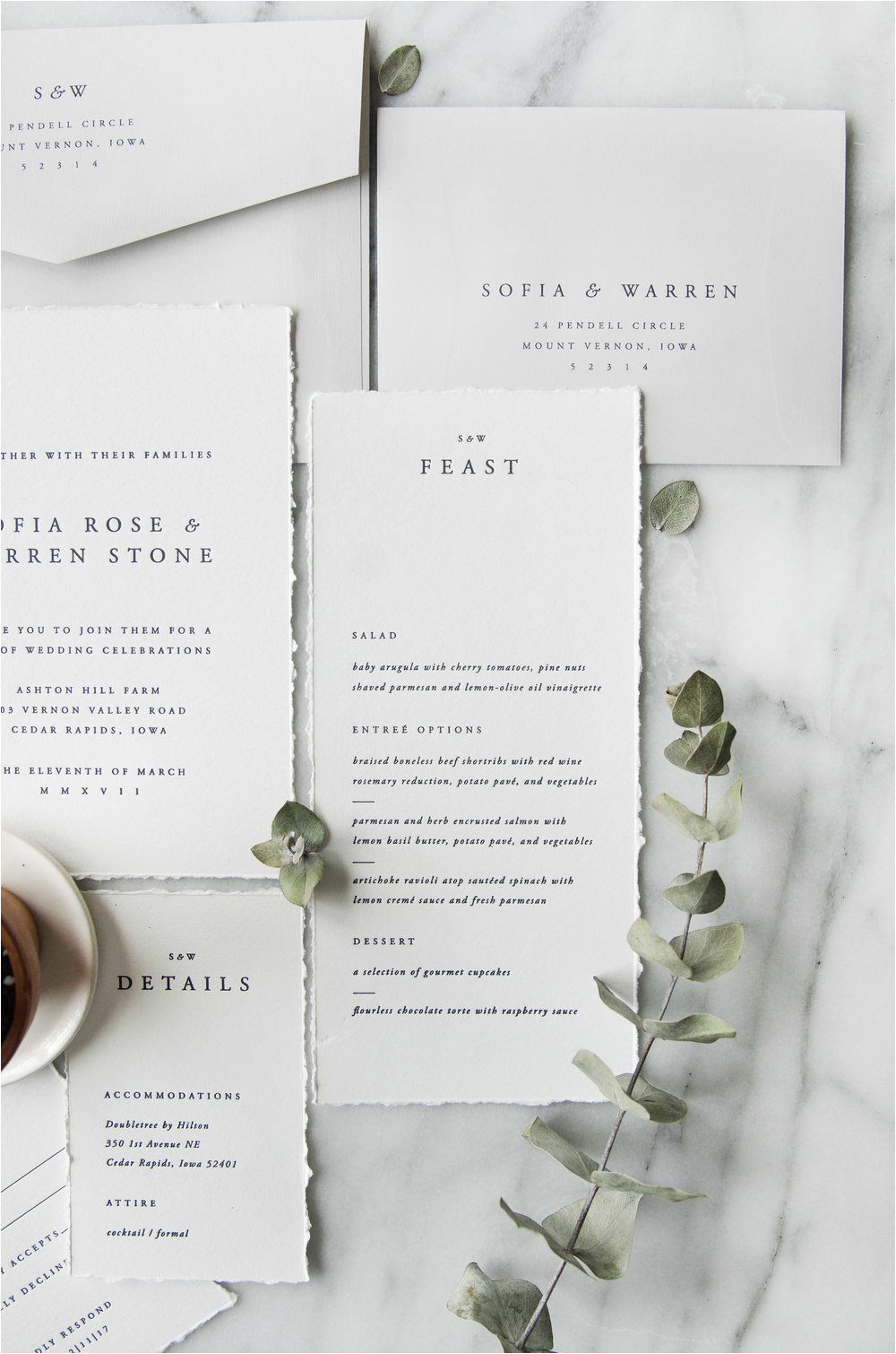 Unique Wedding Menu Card Ideas sofia Semi Custom Menu Design Simple Traditional Classic