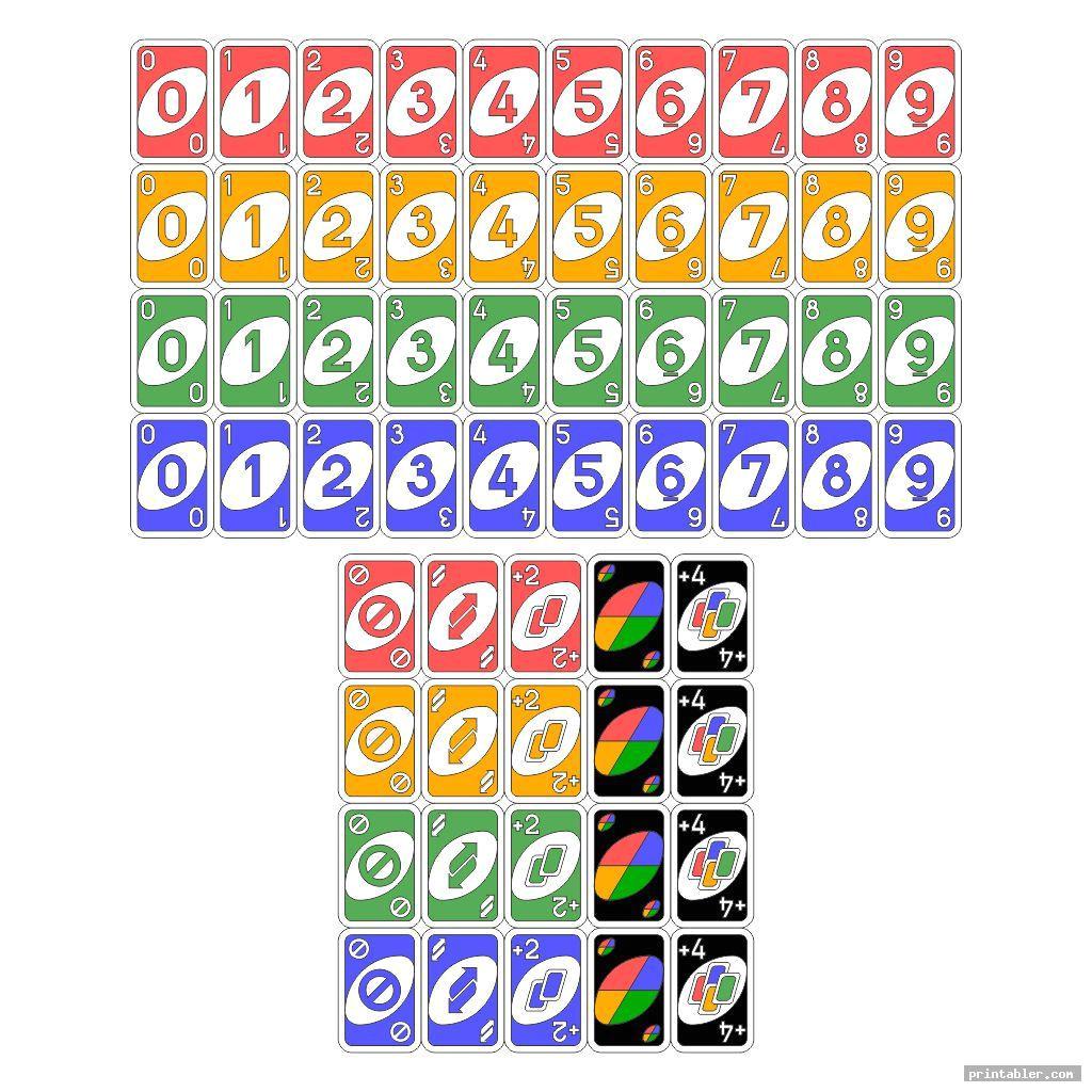 printable uno deck image free jpg