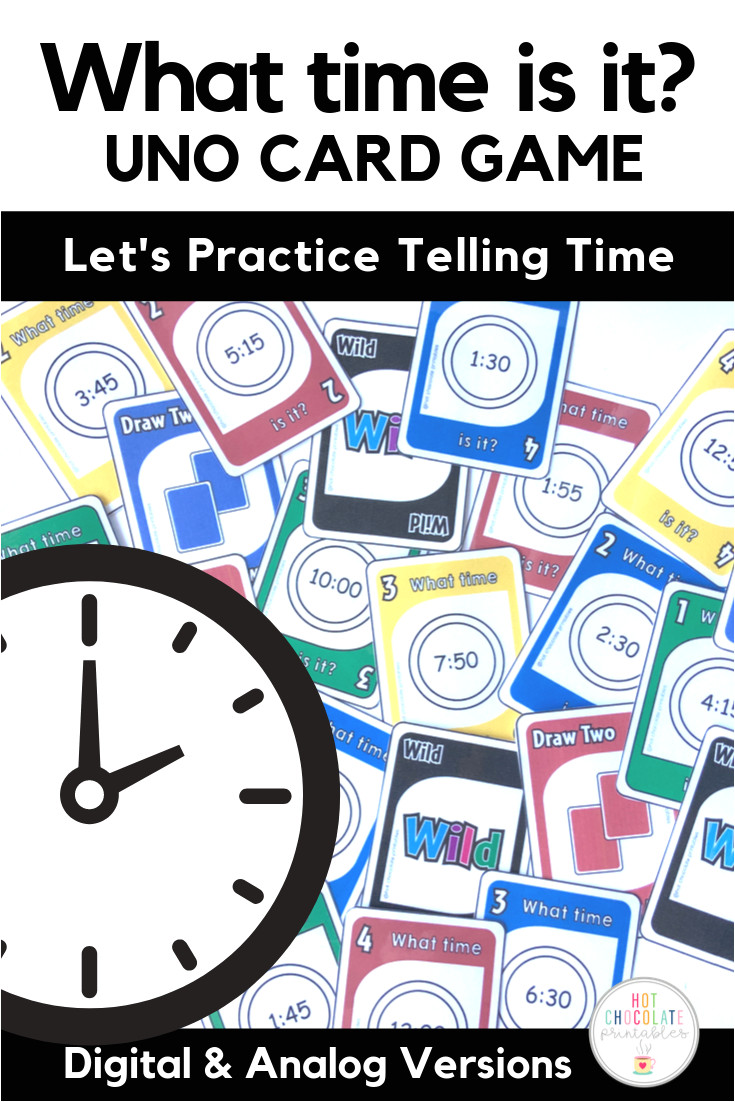 Uno Blank Card Rule Ideas Telling the Time Card Game Digital and Analog Clocks In 2020