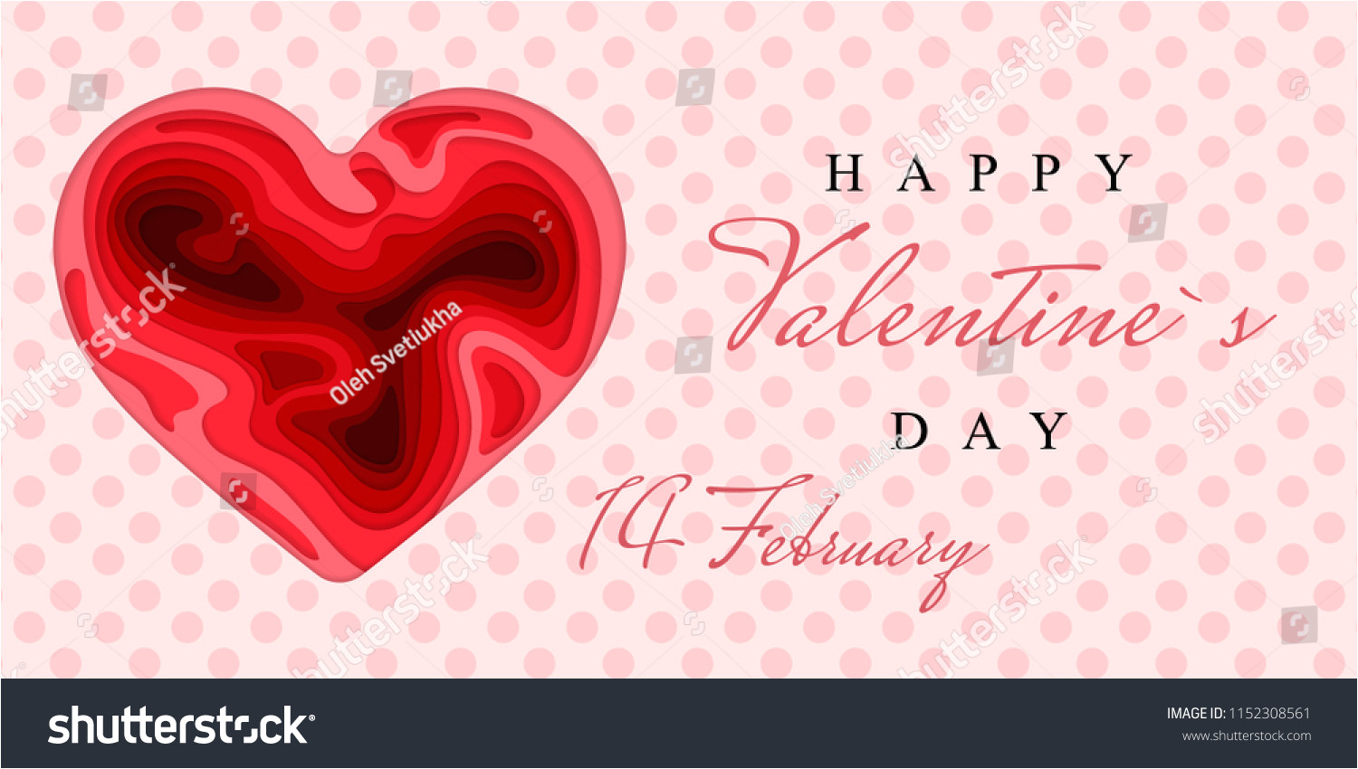 stock vector happy valentine s day d paper cut heart concept design greeting card paper carving heart shapes 1152308561 jpg