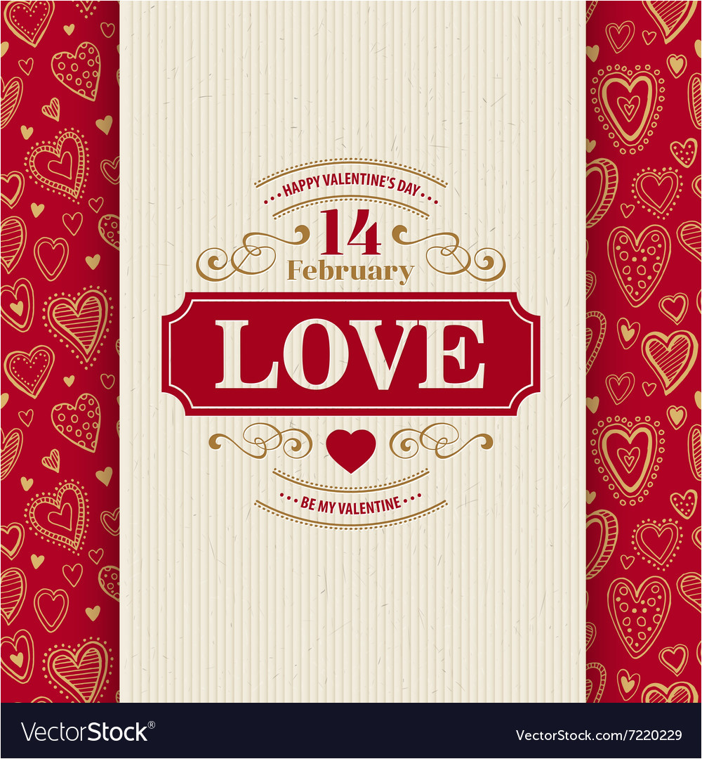 valentines day typography greeting card over vector 7220229 jpg