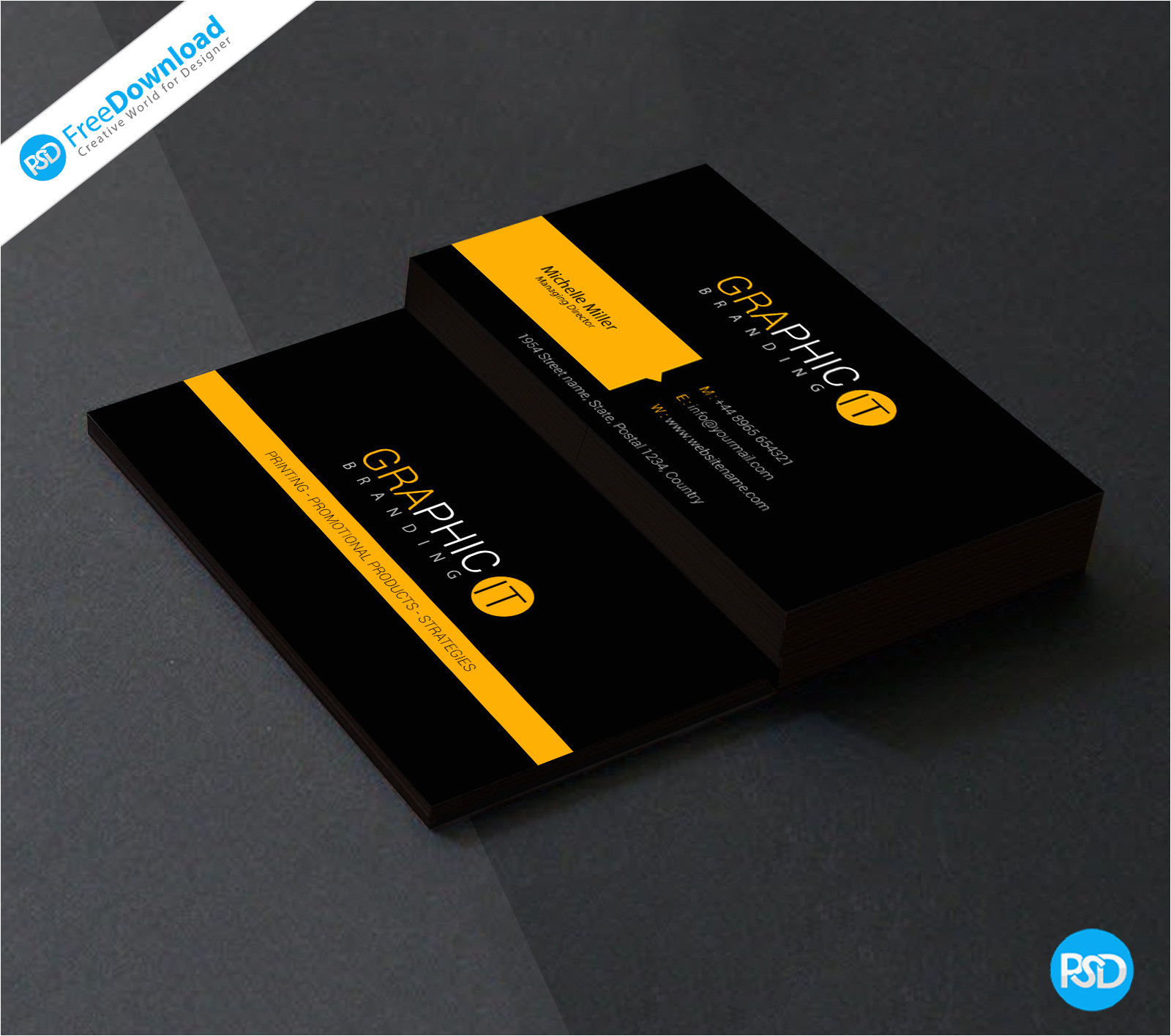 professional business card design psd jpg