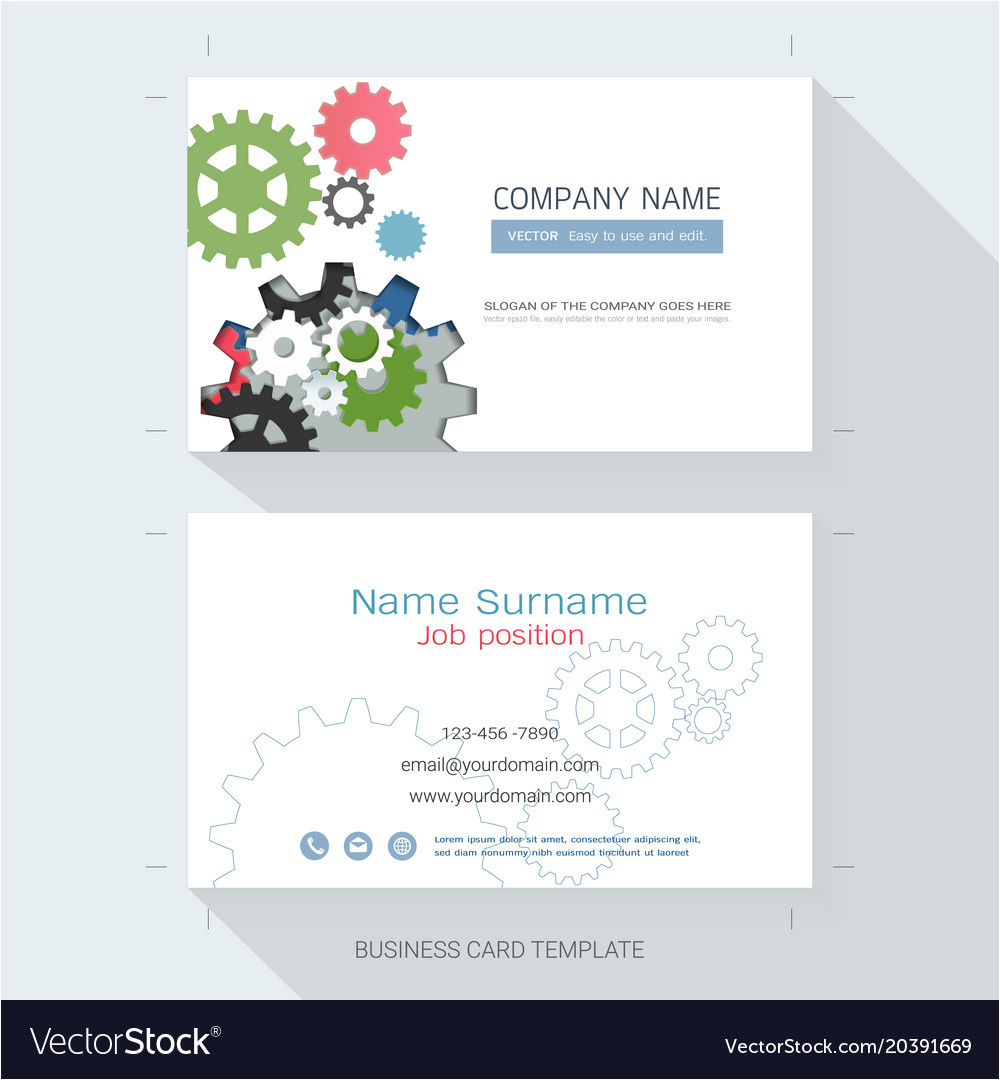 Visiting Card Background Eps File Free Download Engineering Business Card or Name Card Template