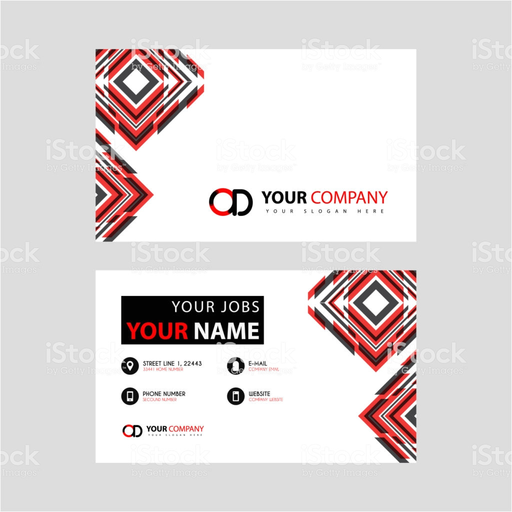 letter od logo in black which is included in a name card or simple vector id1150439597