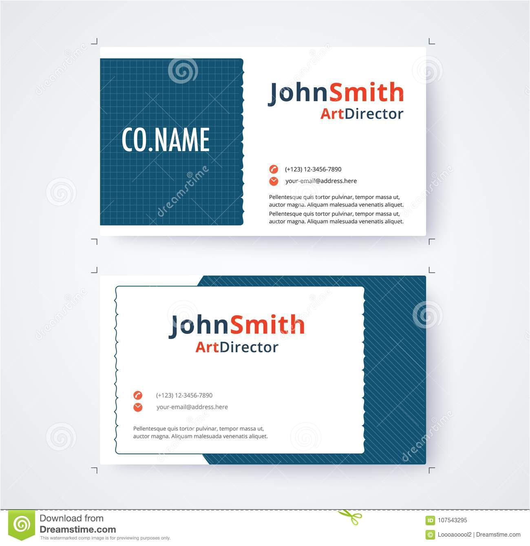 business card template commercial design white background vector illustration 107543295 jpg