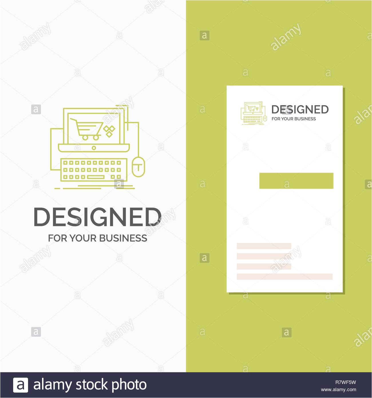 business logo for cart online shop store game vertical green business visiting card template creative background vector illustration r7wf5w jpg