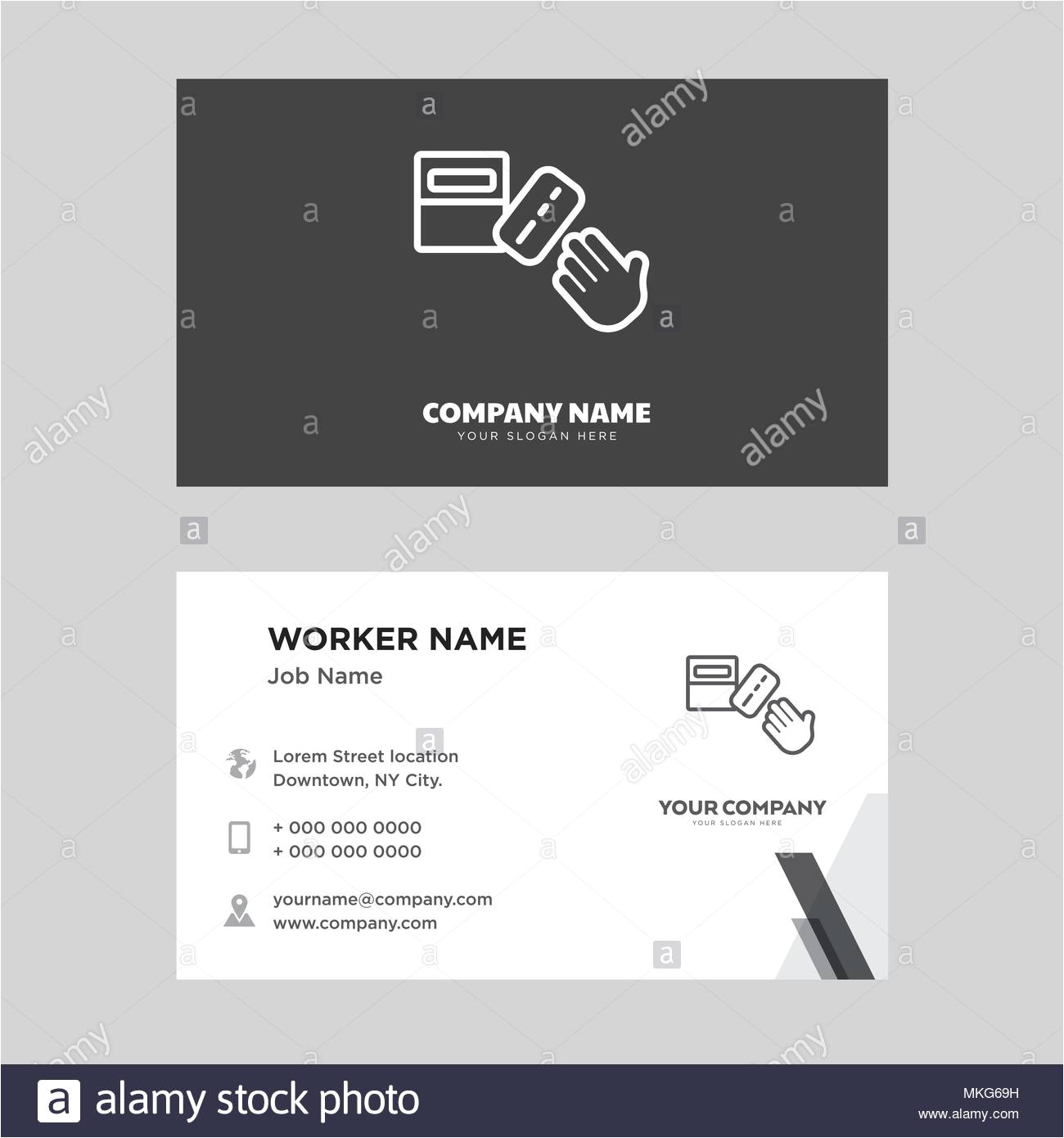 ballot business card design template visiting for your company modern horizontal identity card vector mkg69h jpg
