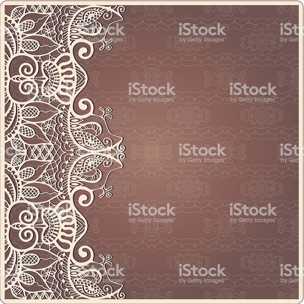abstract background lacy frame border pattern wedding invitation card vector id507088131