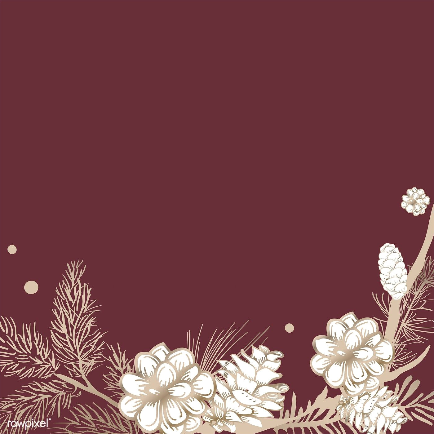 Wedding Invitation Card Red Background Design Floral Framed Wedding Invitation Vector Free Image by