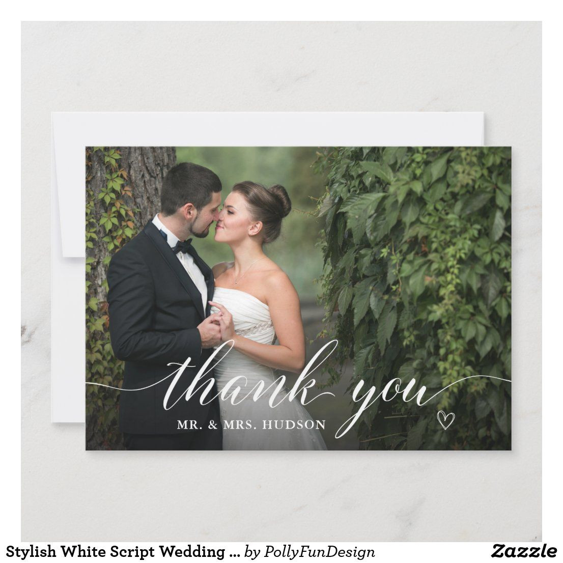 Wedding Thank You Card Zazzle Pin On Thank You Cards