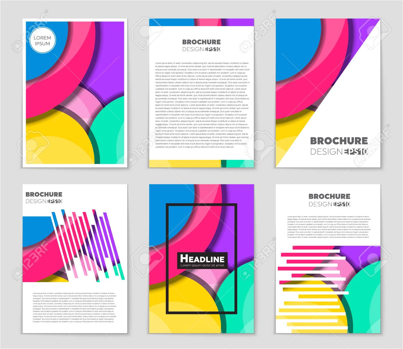 76170849 abstract vector layout background set for art template design list front page mockup brochure theme jpg